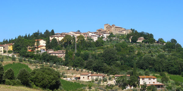 A typical Chianti village