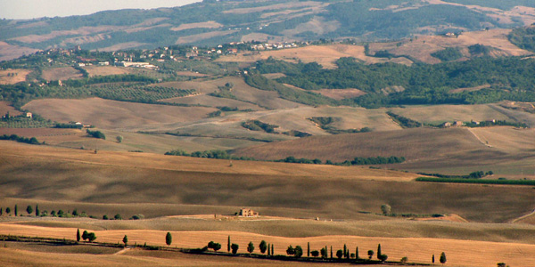 Beautiful Val D'Orcia in Tuscany